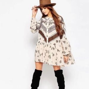 Free People From your heart printed tunc dress
